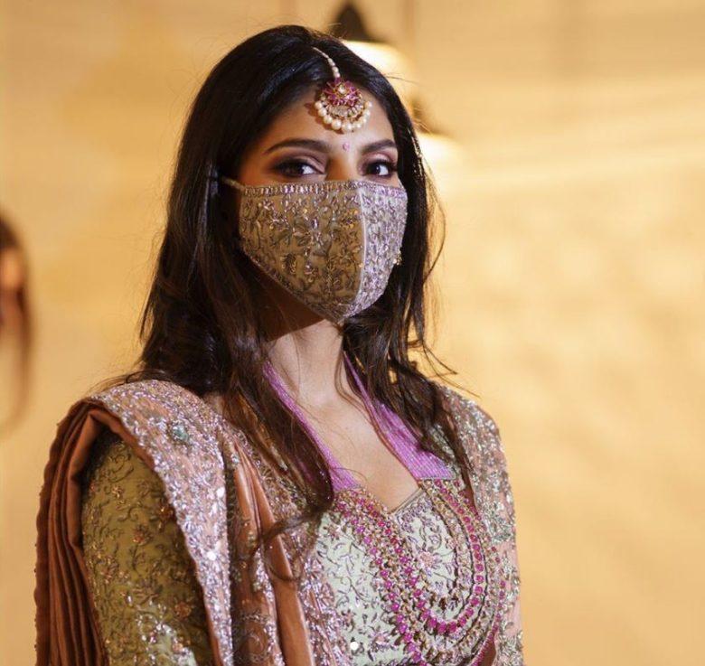 Miheeka Bajaj wearing Face Mask